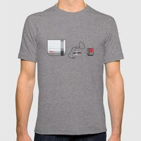 #38 Nintendo Entertainment System Mens Fitted Tee Tri-Grey SMALL