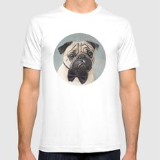 Mr Pug Mens Fitted Tee White SMALL