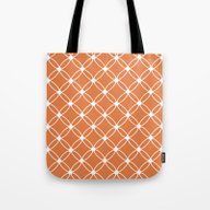 Tote Bag featuring Tangerine And White by Janice Austin Design…