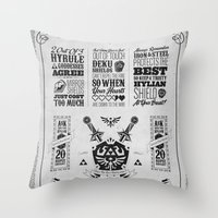 Legend of Zelda - The Hylian Shield Foundry Throw Pillow