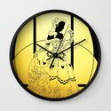 Silhouettes Belle Wall Clock