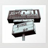 Old Deli Sign Art Print