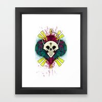 The Beauty of Color and the Strange Framed Art Print