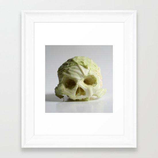 360. Skull of Cabbage Framed Art Print