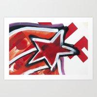 Grafitti Star Art Print
