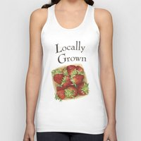 Strawberries Unisex Tank Top