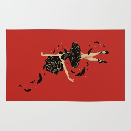Black Swan Area & Throw Rug