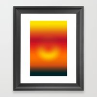 Sunset Abstract Framed Art Print