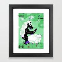 BE SMART Framed Art Print