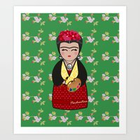 Kokeshi Frida Kahlo Art Print
