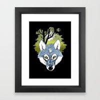 Wolf Phase Framed Art Print