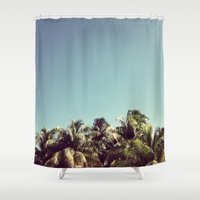 Also Palms Shower Curtain