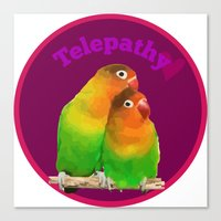 Telepathy Birds Canvas Print