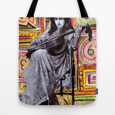 Guitarist in Time Tote Bag