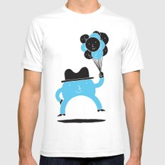 Blue-Boy Balloon Mens Fitted Tee White SMALL
