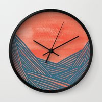 Watercolor 9 Wall Clock