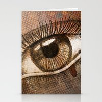 Refracted Canvas Stationery Cards
