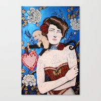 Augusta -- The Tattooed Lady Canvas Print
