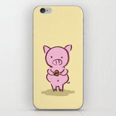 Piggies Love To Eat iPhone & iPod Skin