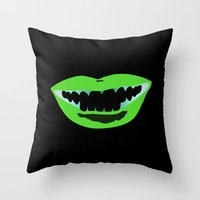 Bouche Throw Pillow