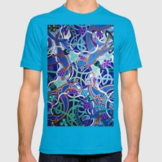Celtic Knot Mens Fitted Tee Teal SMALL