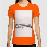 Untitled Womens Fitted Tee Orange SMALL