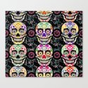 Happy calaveras Canvas Print
