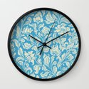 neo ethnic cerulean Wall Clock