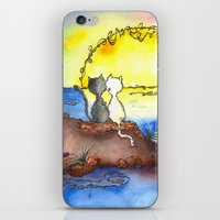 Cats at Sunset iPhone & iPod Skin