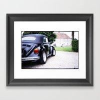 Vintage Volkswagon Beetle Framed Art Print