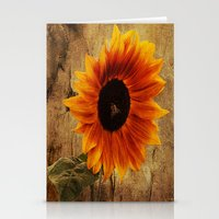 Vintage Sunflower Framed Stationery Cards