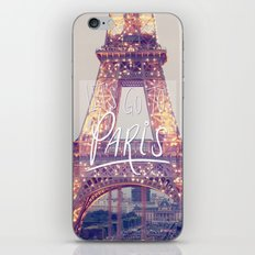 let's go to paris iPhone & iPod Skin