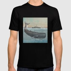 The whale Mens Fitted Tee SMALL Black
