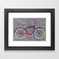 British Bicycle Framed Art Print