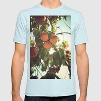 Life's A Peach Mens Fitted Tee Light Blue SMALL