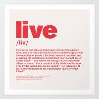 Definition LLL - Live 5 Art Print