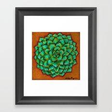 Succulent Mandala Framed Art Print