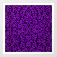 Royal Purple Lace Art Print