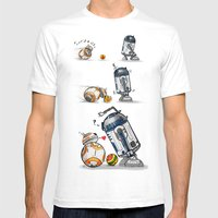 Droid Playtime Mens Fitted Tee White SMALL