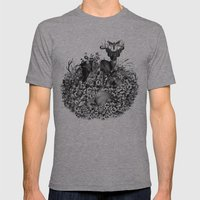 Ibacene Mens Fitted Tee Athletic Grey SMALL