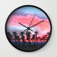 Coachella Sunset Wall Clock