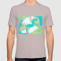Winged Unicorn Mens Fitted Tee Cinder SMALL