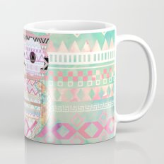 Hoot!  Whimsical Tribal Owl Pastel Girly Tie Dye Aztec Mug