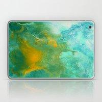 Teal Fluid Abstract Painting Laptop & iPad Skin