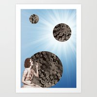 Lace Bubbles Art Print