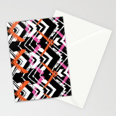 Painted geometry Stationery Cards