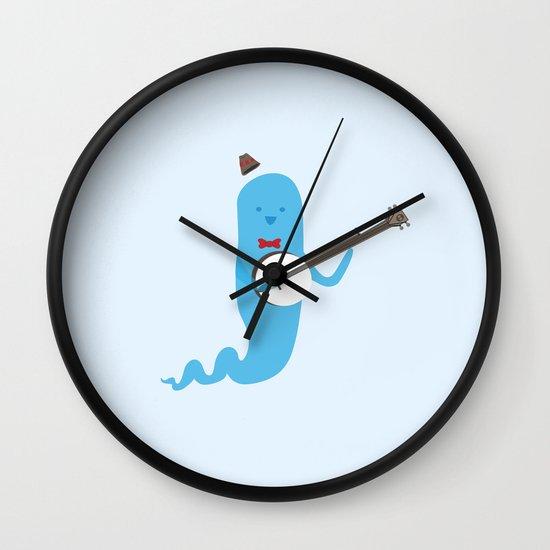 Ghost and Banjo Wall Clock