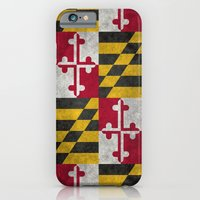 State flag of Flag of Maryland - Vintage retro style iPhone 6 Slim Case