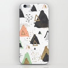Triangles & textures watercolor iPhone & iPod Skin