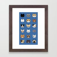 Happy Cats Framed Art Print